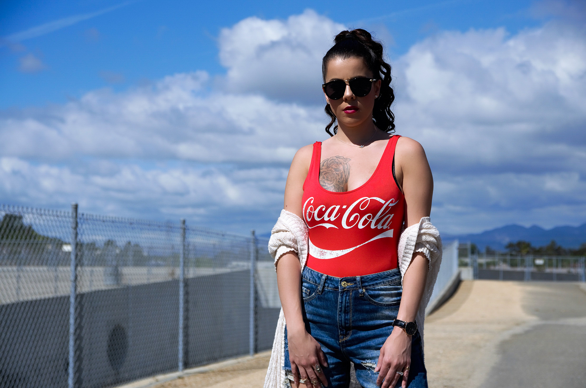 Forever 21 Coca-Cola Bodysuit & Ripped Jeans x AmberNicoleFashion