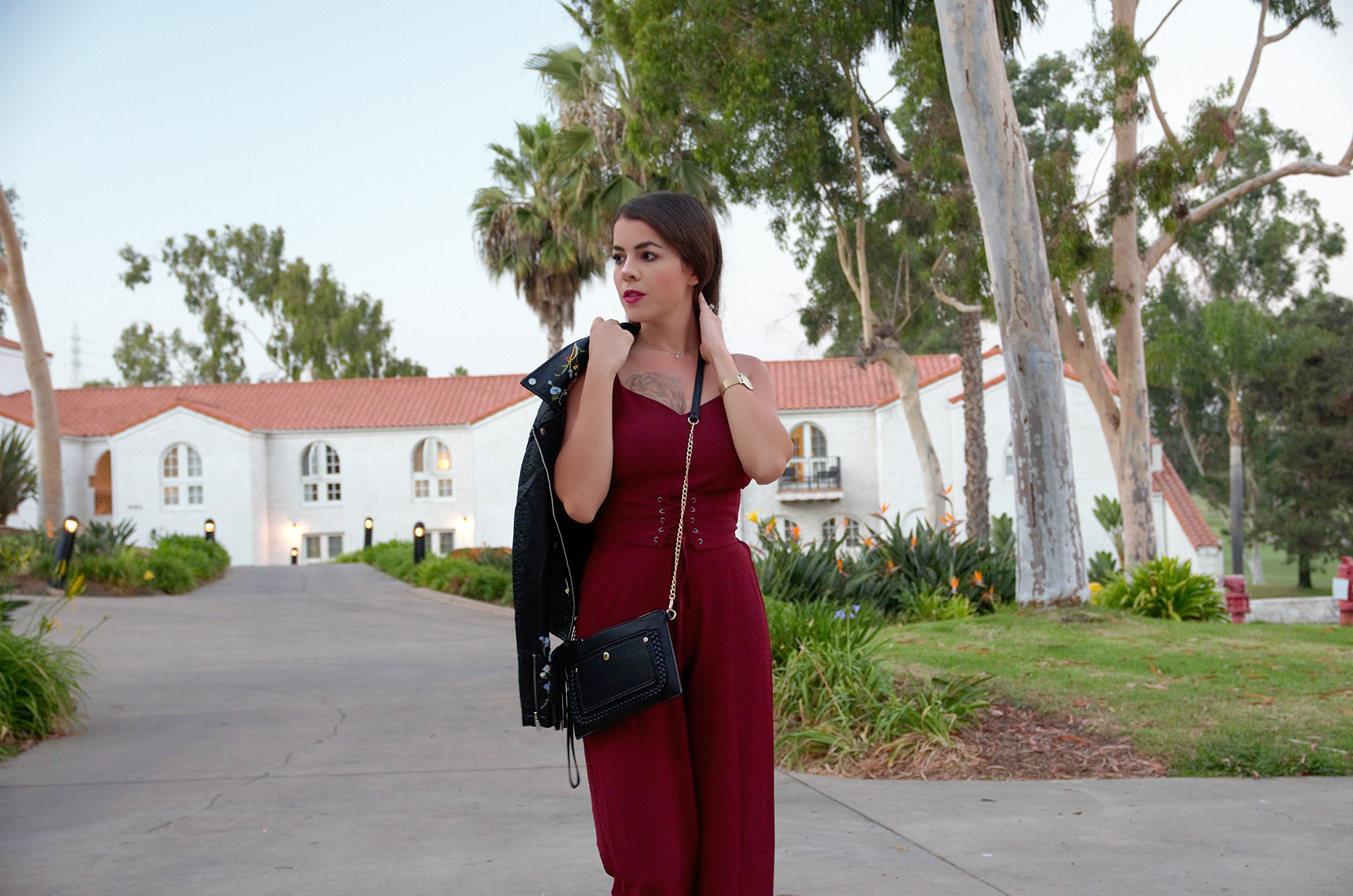ceebbc565ad Burgundy Jumpsuit from Nordstrom (Wayf) and How Blogging Has Changed My  Life!