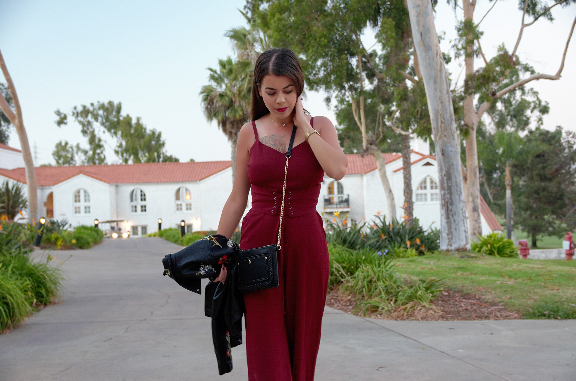 743369e5760 Burgundy Jumpsuit from Nordstrom (Wayf) and How Blogging Has Changed ...