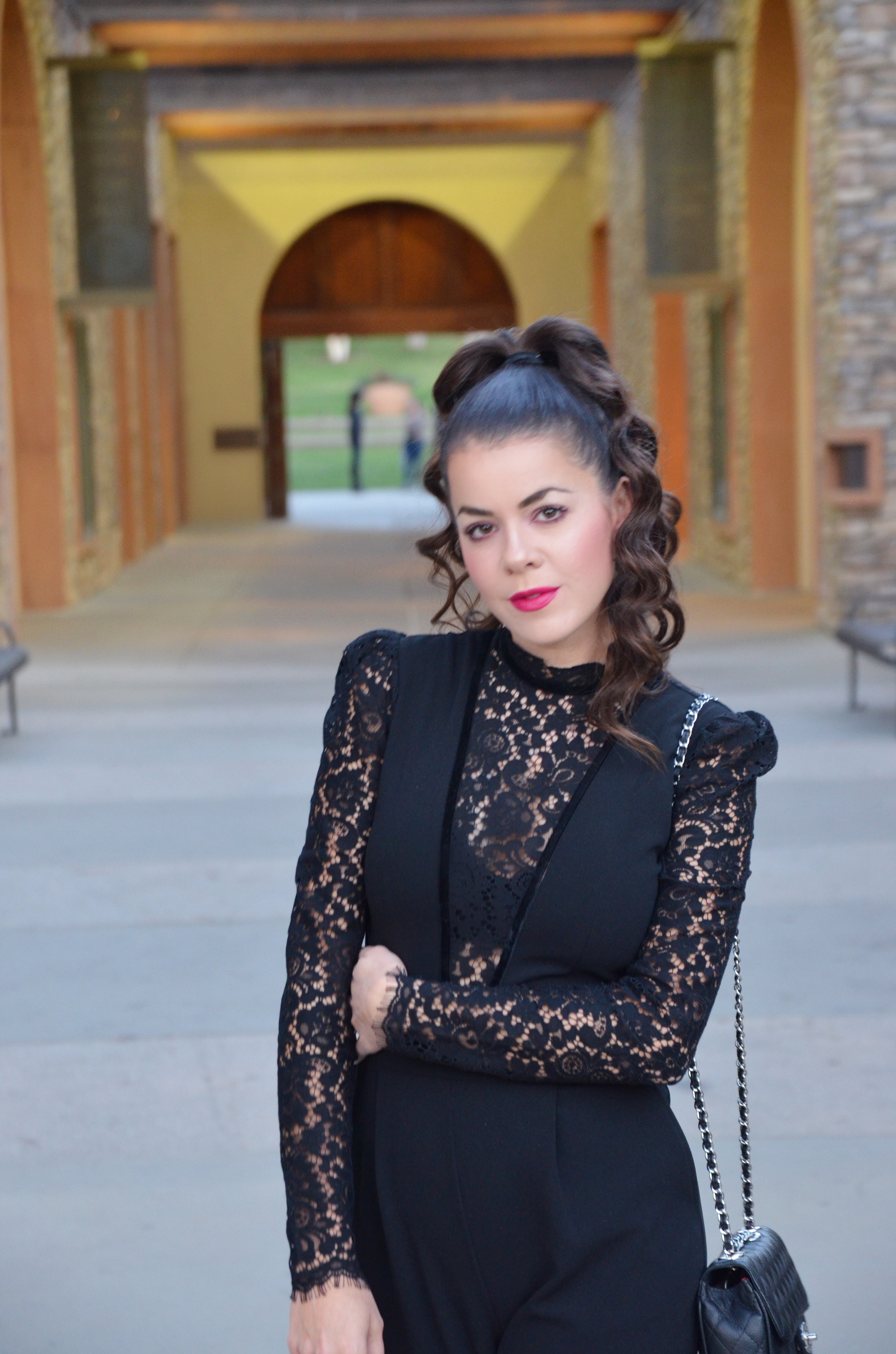 39f1cf1d819 how to style a black lace jumpsuit with express pic 11 - Amber ...